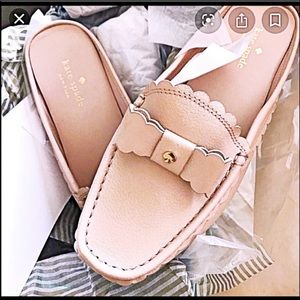 KATE SPADE BLUSH BOW LOAFER MULE